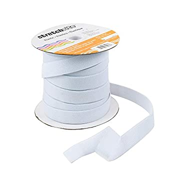 Stretchrite Knit Polyester Elastic Spool 3/4-Inch by 30-Yards White