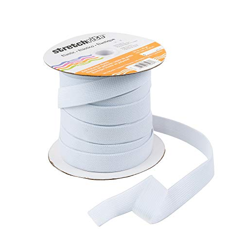Stretchrite Knit Polyester Elastic Spool, 3/4-Inch by 30-Yards, White