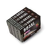 BBUNIT 4 Cartuchos de Tinta Negra 603XL de Repuesto para Epson 603 compatibles con Epson Home XP-3100 XP-4100 XP-2100 XP-2105 XP-3105 XP-4105, Workforce WF-2810 WF-2830 WF-2835