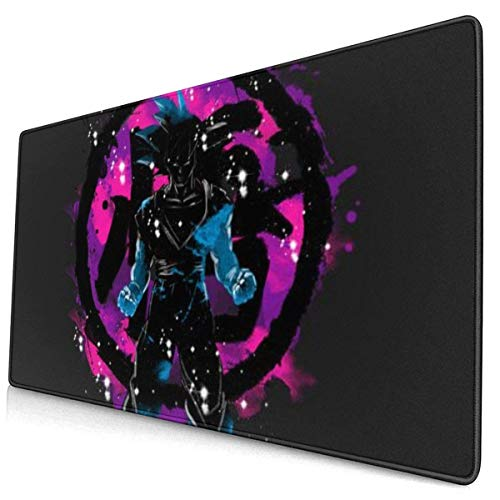 Extra Large Mouse Pad -Dragon Splash -Dark Son Goku Desk Mousepad - 15.8x29.5in (3mm Thick)- XL Protective Keyboard Desk Mouse Mat for Computer/Laptop