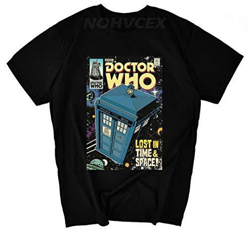 DR Who Bad Wolf Doctor Camiseta Verano Algodón Hombre Camiseta Elasticidad Estampado Suelto Camisas Cómodo Cuello Redondo para Fiesta