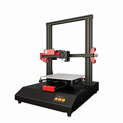 3D-printer met blauwe achtergrondverlichting, dubbele toepassing van metalen multifunctionele printer voor industrie, thuis bureau, kleine printer.