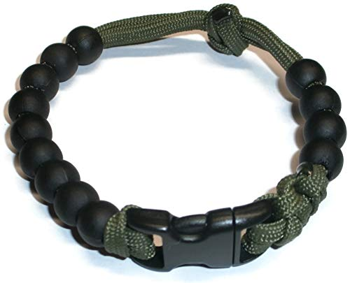 RedVex Ranger Pace Counter Bead Bracelet Choose Your Color and Size - Customization Available (OD Green, 8 inch)