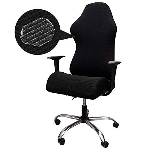 ZCFXGHH Printed Gaming Chair Covers, Reclining Desk Office Chair Covers,Computer Desk Office Chair Covers (Only Chair Covers), Black