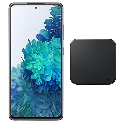 Samsung Galaxy S20 FE (128 GB, 6 GB) 6.5 pulgadas 120 Hz AMOLED, Snapdragon 865, IP68 resistente al agua, SIM dual GSM desbloqueado (Global 4G LTE) modelo internacional SM-G780G/DS (cargador inalámbrico, azul marino)