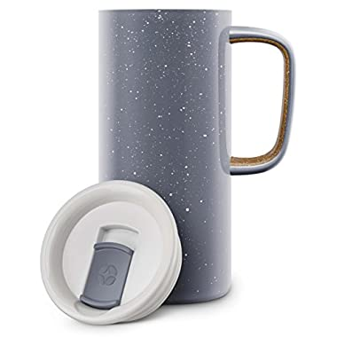 Ello 429-0293-040-6 Campy Steel Mug, Grey, 18 oz