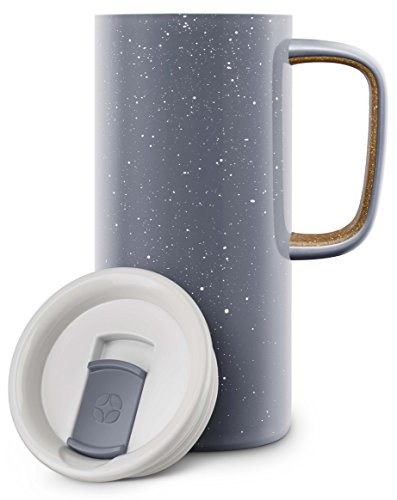 Ello Campy Vacuum Insulated Stainless Steel Water Bottle with Slider Lid, 16 oz, Grey