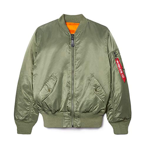 Alpha Industries Women's MA-1 Flight Jacket (M, Sage)