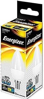 Energizer SES E14 6 W bombilla LED tipo vela, 40 W de repuesto tradicional, 470 Lumens - luz blanca cálida, pack individual, E14 (Small Edison Screw)