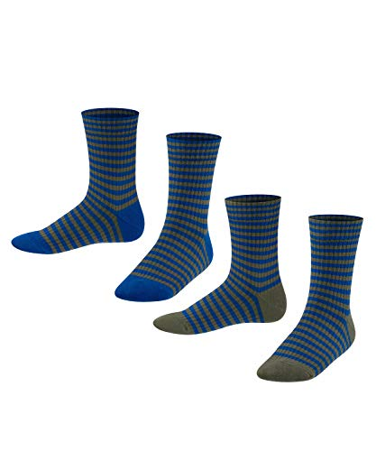 ESPRIT Sporty Stripe 2-Pack Kinder Socken petrol blue (6493) 39-42 aus Baumwolle