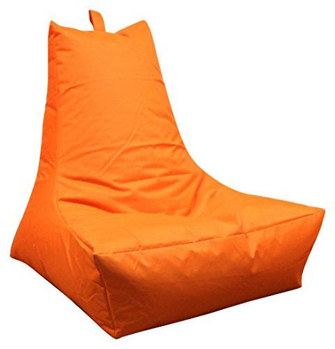 Mesana XXL Lounge-Sessel, ca. 100x90x80 cm, Sitzsack für Outdoor & Indoor, wasserabweisend, viele verschiedene Farben, orange