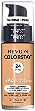 REVLON ColorStay Makeup for Normal/Dry Skin SPF 20, Longwear Liquid Foundation, with Medium-Full Coverage, Natural Finish, Oil Free, 392 Sun Beige, 1.0 oz