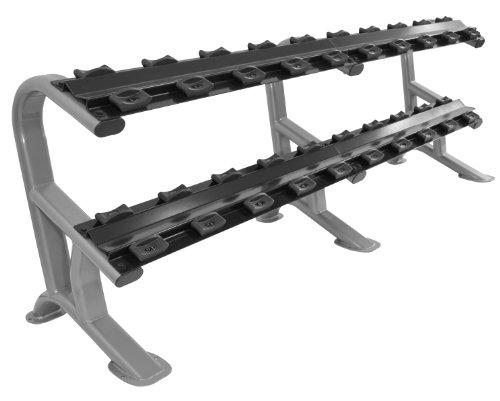 Bad Company Oval-Line CHD Heavy Duty Kurzhantel Ablage in Studio-Qualität - Ablage/Rack für bis zu 10 Paar Kurzhanteln BCA-119