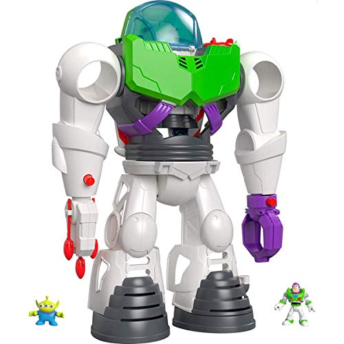 Fisher-Price GBG65 - Imaginext Disney Pixar Toy Story 4 Buzz Lightyear 3 in 1 Roboter, Spielzeug ab 3 Jahre