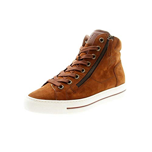 Paul Green Damen Super Soft Hightop-Sneaker, Frauen sportlicher Schnürer, Sneaker schnürer sportlich freizeitschuh weiblich Lady,Braun,7.5 UK / 41 EU