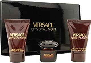 Versace Perfume - Versace Crystal Noir - perfumes for women, 3 Pieces Mini Set