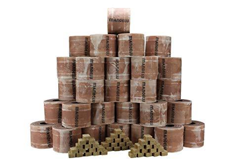 Mandelu Wachsrollen 60 Stück mit Anzündwürfeln