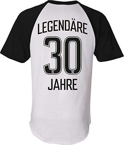 Trikot: Legendäre 30 Jahre - Geburtstag - Jahrgang 1990 T-Shirt - Geburtstags-Geschenk - Fußball - Sport - Männer & Frau-en - Damen Herren - Lustig - Dreißig-Ster - Stadion - Fan (XL)