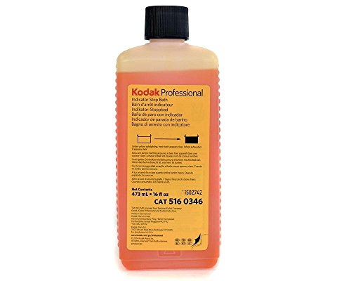 Kodak Indicator Stop Bath For Black and White Films And Papers, 1-Pint Bottle To Make 8-Gallons.