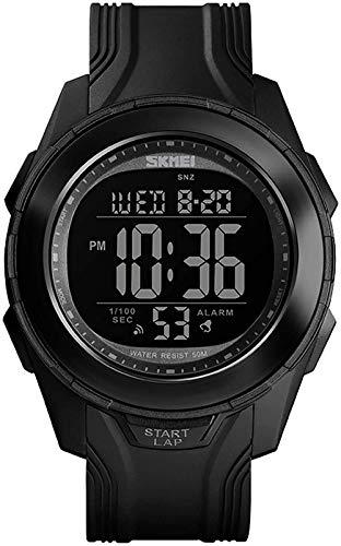 Reloj electrónico multifuncional impermeable para exteriores, alarma, cronógrafo, calendario, cuenta regresiva, 24 horas, GMT, estilo C, D.