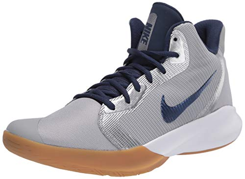 Nike Unisex-Erwachsene Precisión III Walking-Schuh, Lt Smoke Grey/Midnight Navy, 43 EU