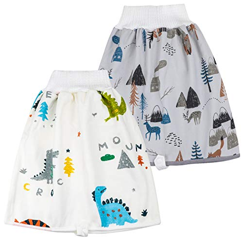 FLYISH DIRECT 2 Stück Baby Trainingshose Sleepy Windelhose Urinpolster Klimmzüge Lernhose High Waist Cotton Potty Underwear Windelunterwäsche, L(4-8T), 4-8 Jahre