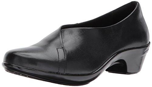 Aravon Womens Kitt Asym Slip On Pump Shoes, Black Leather, US 8.5 N