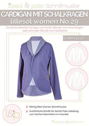 Lillesol & Pelle Schnittmuster women No29 Cardigan mit Schalkragen Papierschnittmuster