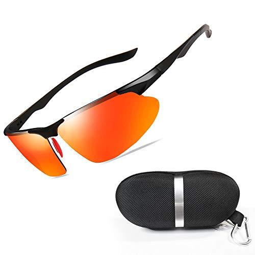 New rui cheng Radsportbrillen,Sportbrille Fahrradbrille UV 400 Radsportbrille Sportbrill Herren Damen Fahrradbrill Sport-Sonnenbrille Angeln im Freien Laufen Fahren Brille Superleichter Schutzbrille