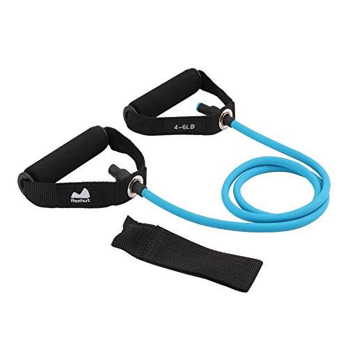 REEHUT Bandas Elásticas de Entrenamiento, Bandas de Resistencia para Fitness Cable de Ejercicio de Entrenamiento para Tonificación Muscular, Equipo de Ejercicio de Estiramientos para Yoga - Azul