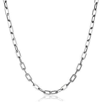 Sterling silver Chain Necklace  Jewelry Rollo chain Anchor chain box chain