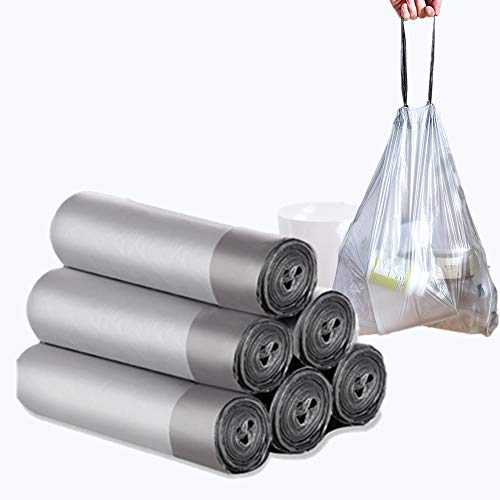 4 Gallon Drawstring Trash Bags, Abcty 45 Count Small Garbage Can Liners - Thicken Waste Basket Bin Bags for Bathroom, Kitchen, Office, Home Bedroom, Car, Diapers Cleaning Pet's Litter