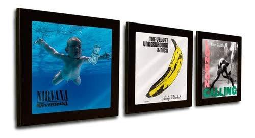 Moldura Metálica para Capa de Discos de Vinil - LP´s ex: Pixies, Nirvana, Beatles, Pink Floyd