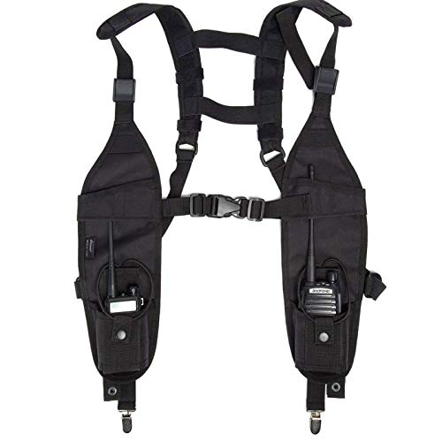 Radio Shoulder Harness Holster Chest Holder Universal Vest Rig for Police Firefighter Two Way Radio Search Rescue Essentials