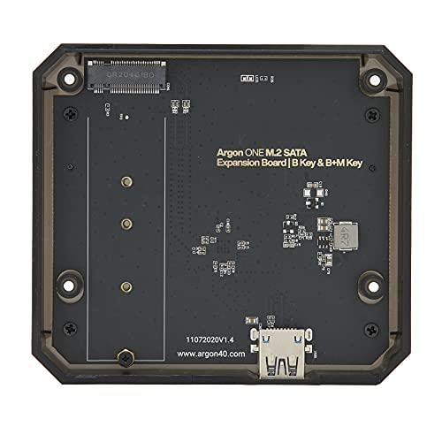Carcasa de Aluminio Raspberry Pi 4, Placa de expansión M.2 SATA SSD a USB 3.0, Carcasa de Unidad de Estado sólido, módulo de Soporte M.2, Placa de expansión de Adaptador USB