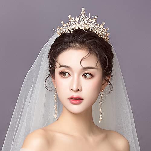 Xiaojie Boda cabeza decoración corona vestido blanco hilo accesorios Europa y América atmosférica nueva madre accesorios para el pelo (color: 2)