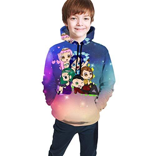 shifeiwanglu Sudaderas con Capucha Unisex para niños Suéteres Its-Funneh Impreso en 3D Ropa con Bolsillo para Adolescentes