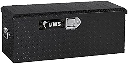 UWS ATV-BLK Black ATV Chest with End Pull Handles and Beveled Insulated Lid