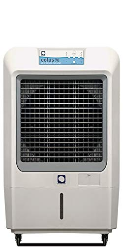 Climatizador Evaporativo MCONFORT Eolus 70 Pro. Potencia 230W. Cobertura 100m². Máximo Caudal 7000 m³/h. 3 Velocidades. Mando a Distancia.Temporizador. Depósito 45L. Panel Táctil Led. Filtros Celulosa
