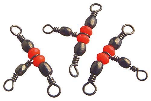 Cormoran - Perlen-Kreuzwirbel black-nickel - Gr.5 - 25kg - 5 Stck
