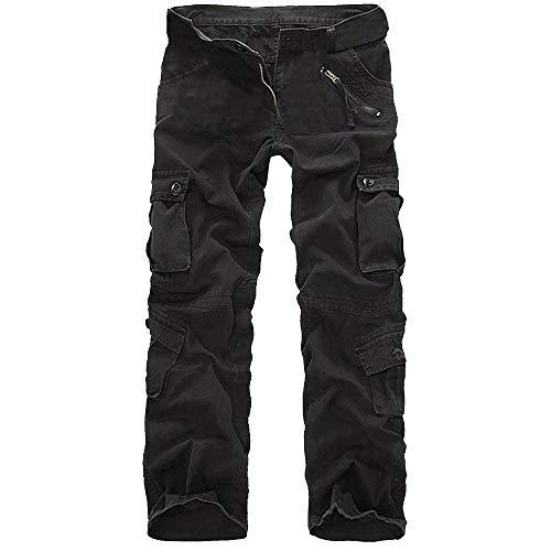 NPRADLA Pantalons Mode Casual pour Hommes en Coton Pants Travail en ExtéRieur Multi-Poches Pantalons Casual Nouveau Printemps éTé Long Cargo Sport