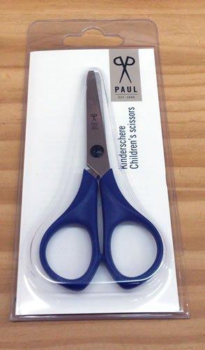 指が切れないステンレス製キッズはさみ・ブルー PAUL社(ドイツ) PU764