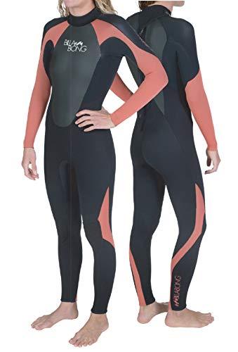 Billabong LS Steamers, Traje de Surf para Mujer, Negro/Rojo, 10
