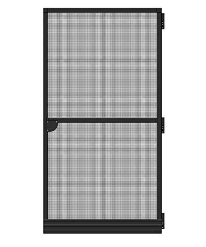 Schellenberg 70927Mosquitera para puerta Basic, Puerta para balcón Puerta y terrazas para puerta, marrón, 100x 210cm