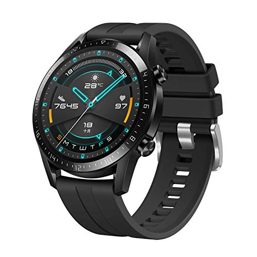 Aerku Armband Kompatible für Huawei Watch GT 2 Pro Damen Herren, Silikon Ersatz Fitness Armband und Uhrenarmband Sportarmband und Wristband Armbänder für Huawei Watch GT 2 Pro - Schwarz