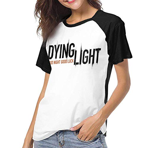 fenglinghua Frauen Kurzarm T-Shirt Women's T Shirts Dying Light Raglan Shirt Short Sleeve Baseball Tee Unique Design top