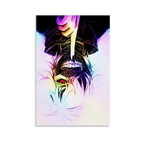 Anime Tokyo Ghoul Kaneki Poster Decoratieve Schilderen Canvas Muur Art Woonkamer Posters Slaapkamer Schilderen 16x24inch…