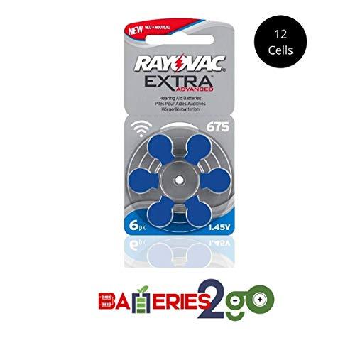 Pack de 60pilas Rayovac Implant Pro Plus para audífonos, tamaño 675