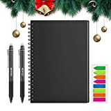 HOMESTEC Reusable Smart Notebook, Letter Size Erasable Wirebound Notebook Sketch Pads APP Storage