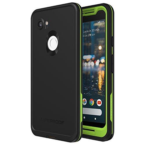 Lifeproof FRĒ Series Waterproof Case for Google Pixel 2 XL - Retail Packaging - Night LITE (Black/Lime)